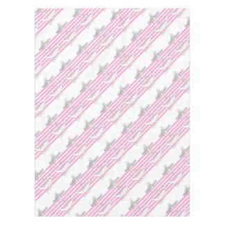 Tony Fernandes 6 pink stripe anchor Tablecloth