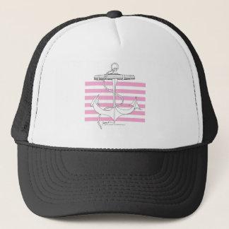 Tony Fernandes 6 pink stripe anchor Trucker Hat