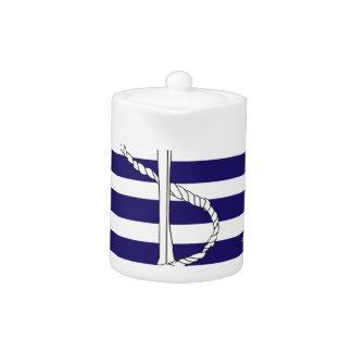 Tony Fernandes 8 blue stripe anchor