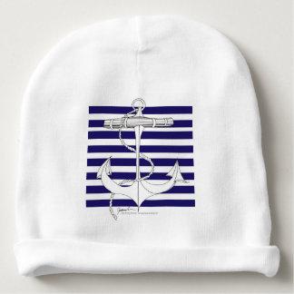 Tony Fernandes 8 blue stripe anchor Baby Beanie