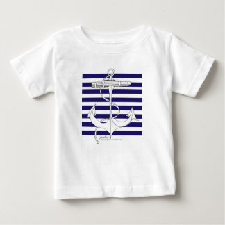 Tony Fernandes 8 blue stripe anchor Baby T-Shirt