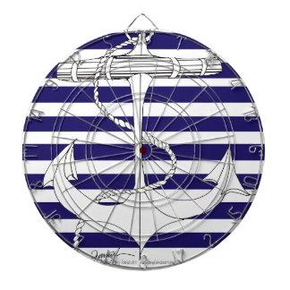 Tony Fernandes 8 blue stripe anchor Dartboard