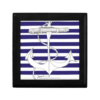 Tony Fernandes 8 blue stripe anchor Gift Box
