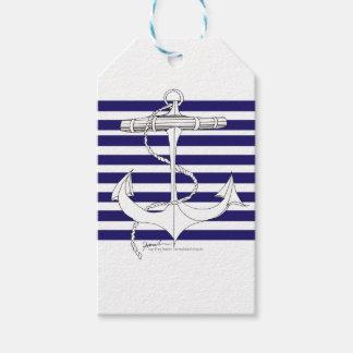 Tony Fernandes 8 blue stripe anchor Gift Tags