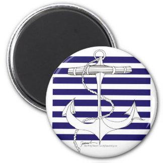 Tony Fernandes 8 blue stripe anchor Magnet