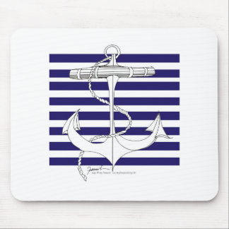 Tony Fernandes 8 blue stripe anchor Mouse Pad