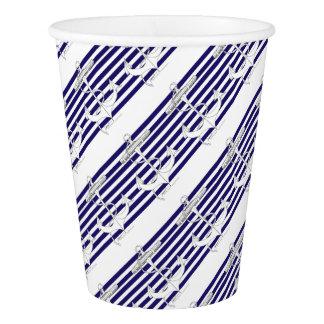 Tony Fernandes 8 blue stripe anchor Paper Cup