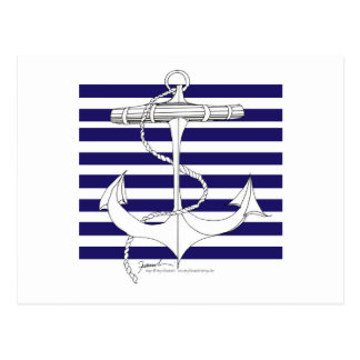 Tony Fernandes 8 blue stripe anchor Postcard