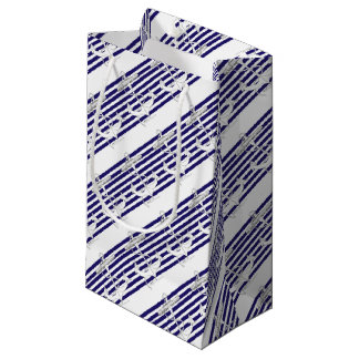 Tony Fernandes 8 blue stripe anchor Small Gift Bag