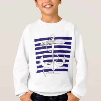Tony Fernandes 8 blue stripe anchor Sweatshirt