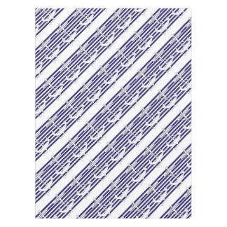 Tony Fernandes 8 blue stripe anchor Tablecloth