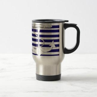Tony Fernandes 8 blue stripe anchor Travel Mug