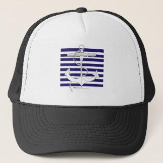 Tony Fernandes 8 blue stripe anchor Trucker Hat