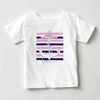 Tony Fernandes 8 mix stripe anchor Baby T-Shirt