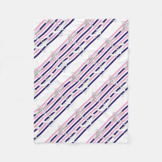 Tony Fernandes 8 mix stripe anchor Fleece Blanket