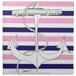 Tony Fernandes 8 mix stripe anchor Napkin
