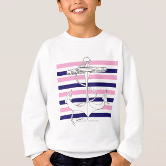 Tony Fernandes 8 mix stripe anchor Sweatshirt