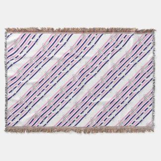 Tony Fernandes 8 mix stripe anchor Throw Blanket
