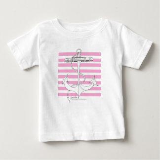 Tony Fernandes 8 pink stripe anchor Baby T-Shirt