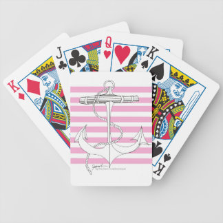 Tony Fernandes 8 pink stripe anchor Bicycle Playing Cards