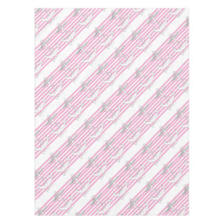 Tony Fernandes 8 pink stripe anchor Tablecloth