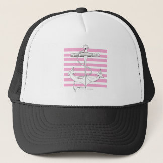 Tony Fernandes 8 pink stripe anchor Trucker Hat