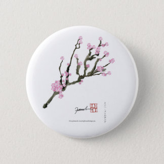Tony Fernandes cherry blossom 8 2 Inch Round Button