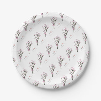 Tony Fernandes cherry blossom 8 7 Inch Paper Plate