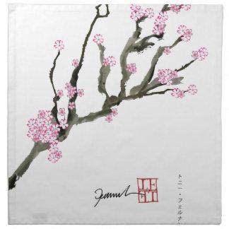 Tony Fernandes cherry blossom 8 Napkin