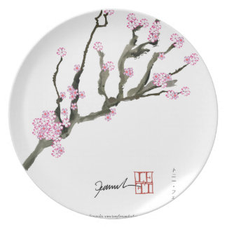 Tony Fernandes cherry blossom 8 Party Plate