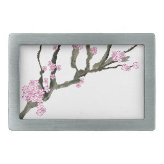 Tony Fernandes cherry blossom 8 Rectangular Belt Buckle