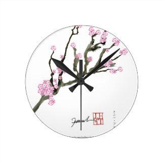 Tony Fernandes cherry blossom 8 Round Clock
