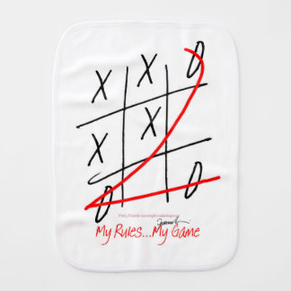 tony fernandes, it's my rule my game (10) burp cloth