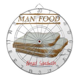 Tony Fernandes's Man Food - bread sandwich Dartboard