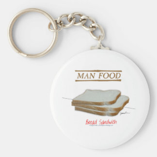 Tony Fernandes's Man Food - bread sandwich Keychain