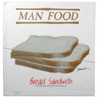 Tony Fernandes's Man Food - bread sandwich Napkin