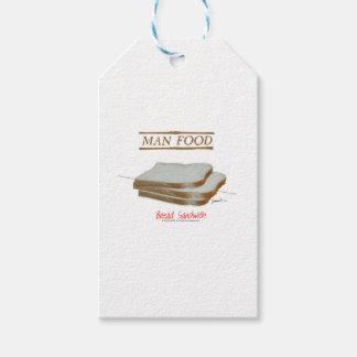 Tony Fernandes's Man Food - bread sandwich Pack Of Gift Tags