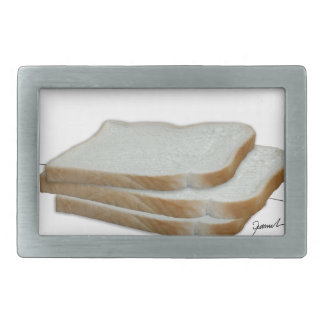 Tony Fernandes's Man Food - bread sandwich Rectangular Belt Buckle