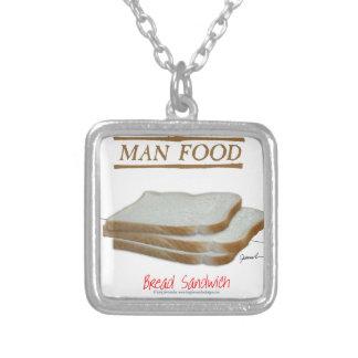 Tony Fernandes's Man Food - bread sandwich Silver Plated Necklace