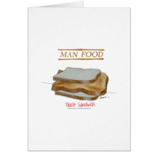 Tony Fernandes's Man Food - toast sandwich Card