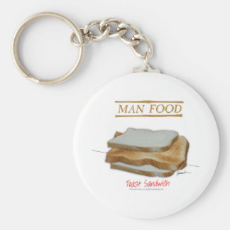 Tony Fernandes's Man Food - toast sandwich Keychain