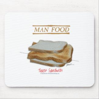 Tony Fernandes's Man Food - toast sandwich Mouse Pad