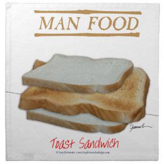 Tony Fernandes's Man Food - toast sandwich Napkin