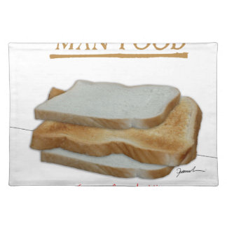 Tony Fernandes's Man Food - toast sandwich Placemat