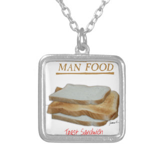 Tony Fernandes's Man Food - toast sandwich Silver Plated Necklace