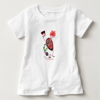 Tony Fernandes's Red Ruby Fab Egg Baby Romper