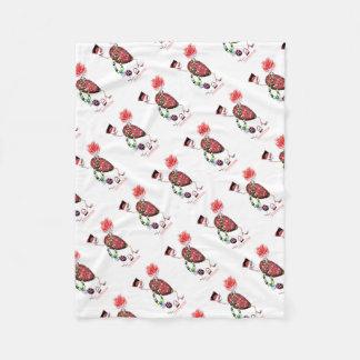 Tony Fernandes's Red Ruby Fab Egg Fleece Blanket