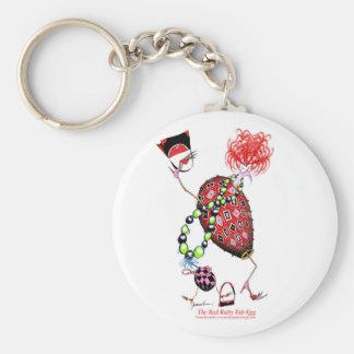 Tony Fernandes's Red Ruby Fab Egg Keychain
