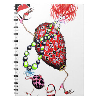 Tony Fernandes's Red Ruby Fab Egg Notebook