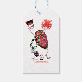 Tony Fernandes's Red Ruby Fab Egg Pack Of Gift Tags